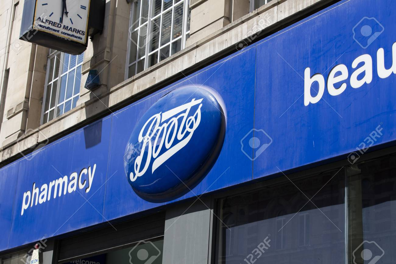 LONDON, UK , JULY 31th 2018 Boots cosmetics and pharmacy store..