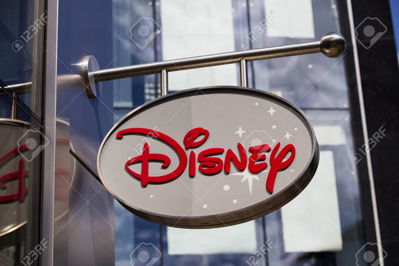 LONDON, UK - JULY 31th 2018: Disney store shop sign in Oxford Street central London - 106469223