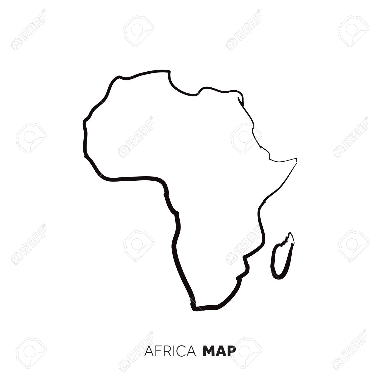Picture of: Jungle Maps Map Of Africa Outline