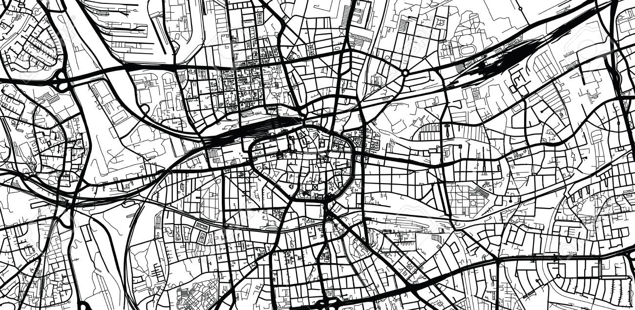 Dortmund On Map Of Germany.Urban Vector City Map Of Dortmund Germany Royalty Free Cliparts
