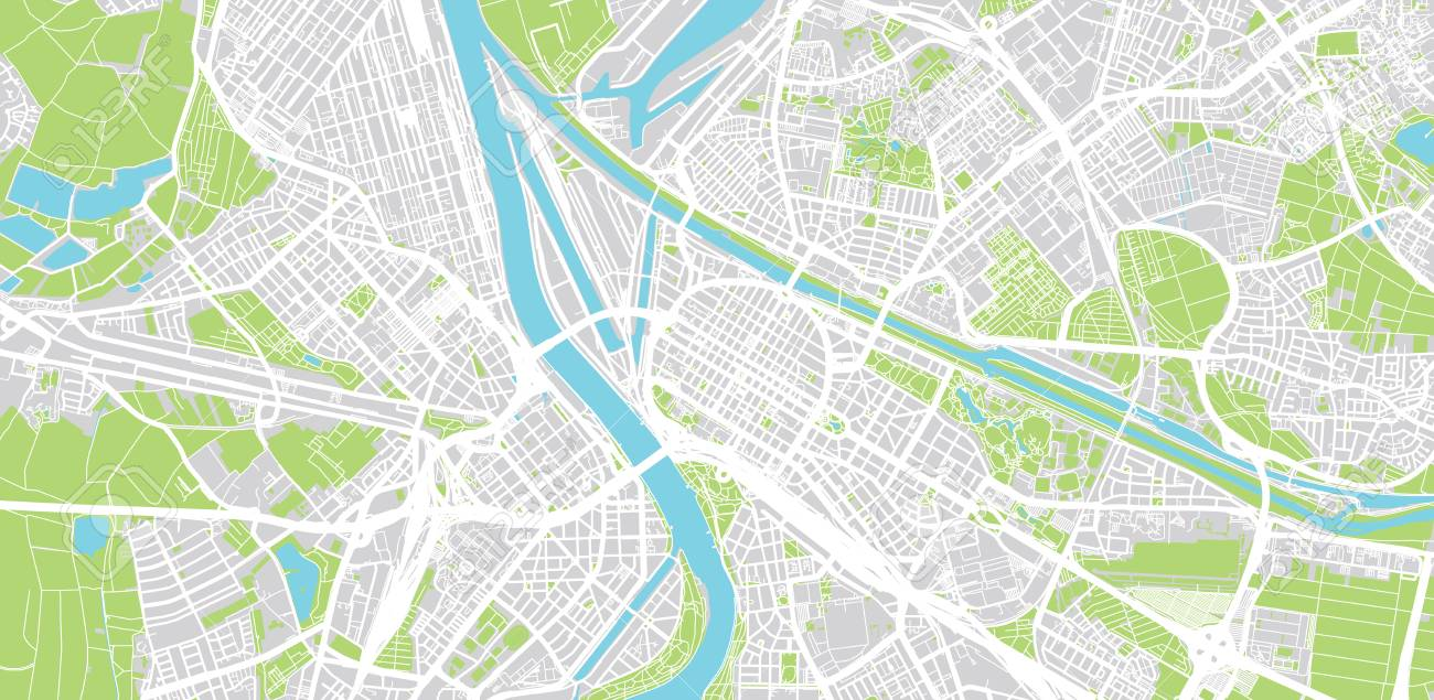 Map Of Germany Mannheim.Urban Vector City Map Of Mannheim Germany Stock Photo Picture And
