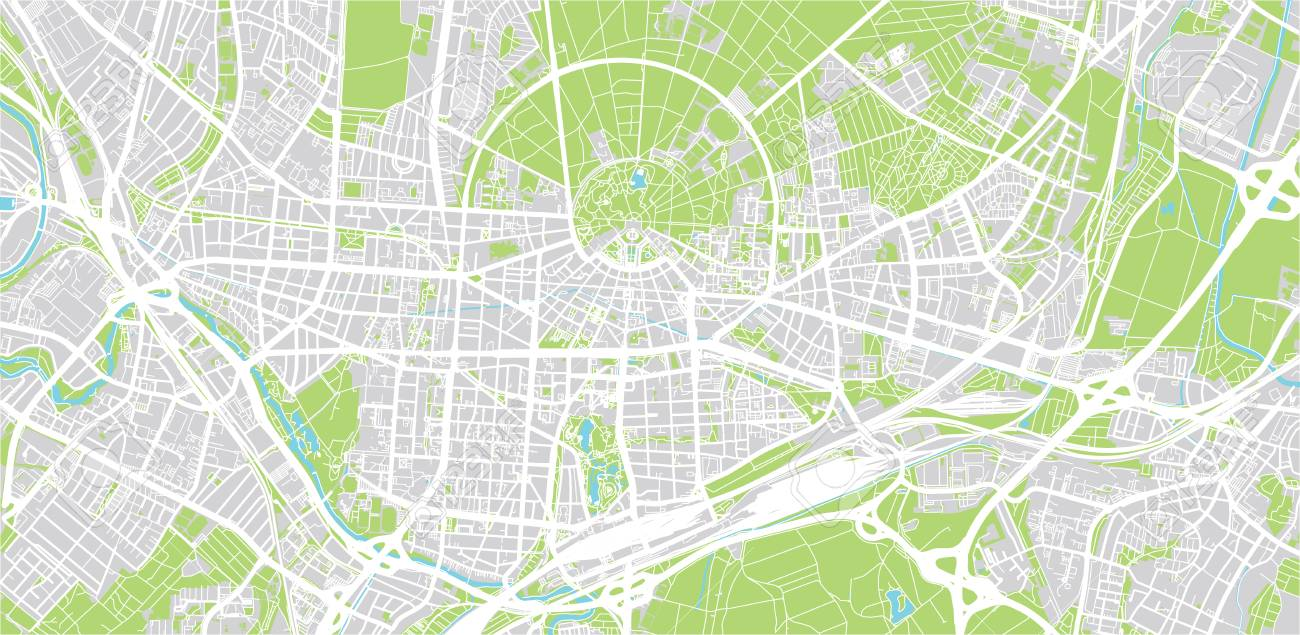 Karlsruhe Map Of Germany.Urban Vector City Map Of Karlsruhe Germany