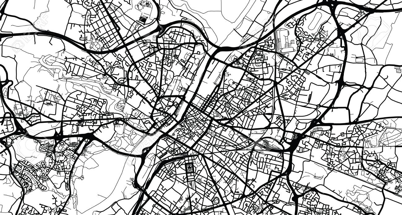 Urban Vector City Map Of Angers France Royalty Free Cliparts