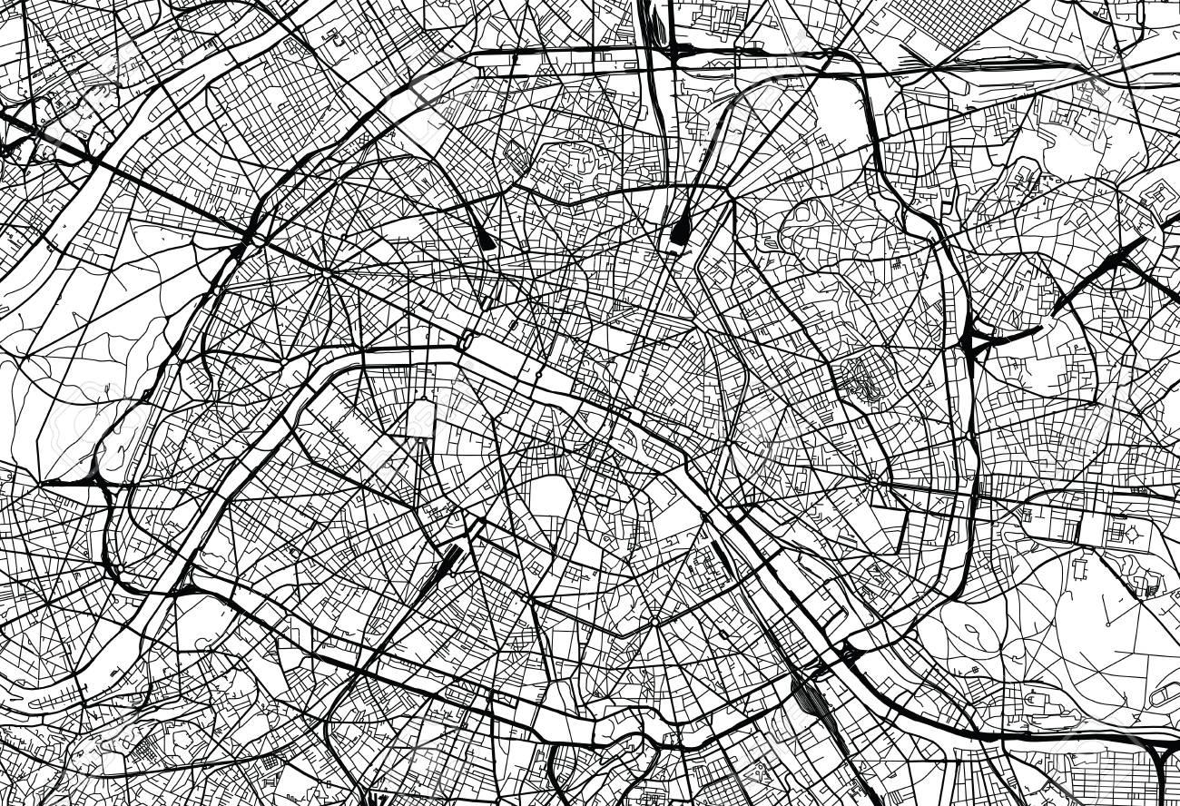 Urban Vector City Map Of Paris, France Lizenzfreie Fotos, Bilder Und ...