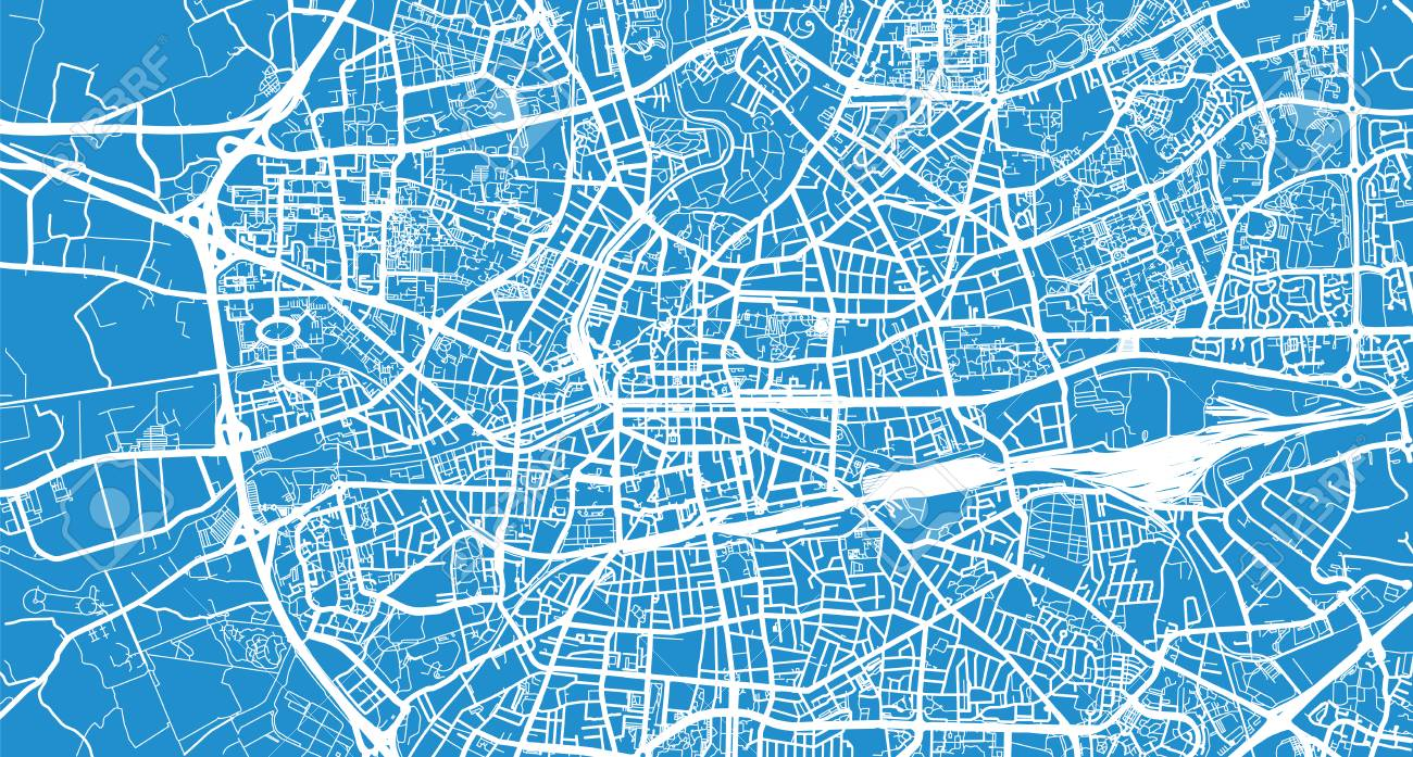 Map Of France Rennes.Urban Vector City Map Of Rennes France Stock Photo Picture And