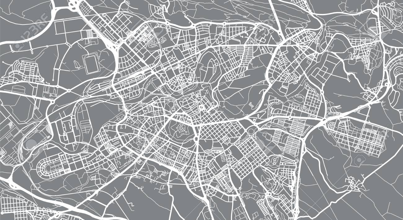 Map Of Spain Pamplona.Urban Vector City Map Of Pamplona Spain