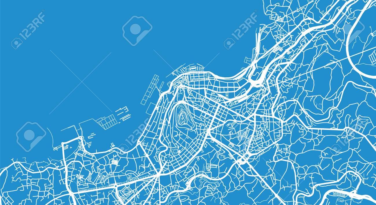 Map Of Spain Vigo.Urban Vector City Map Of Vigo Spain