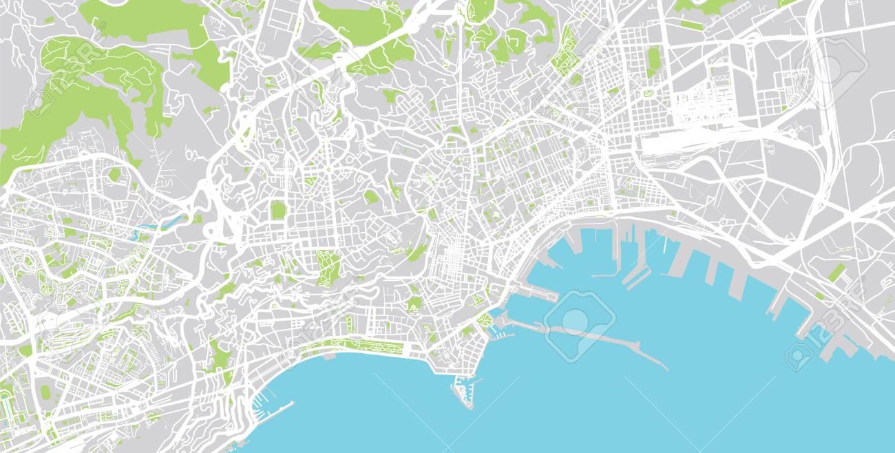 Urban vector city map of Naples, Italy
