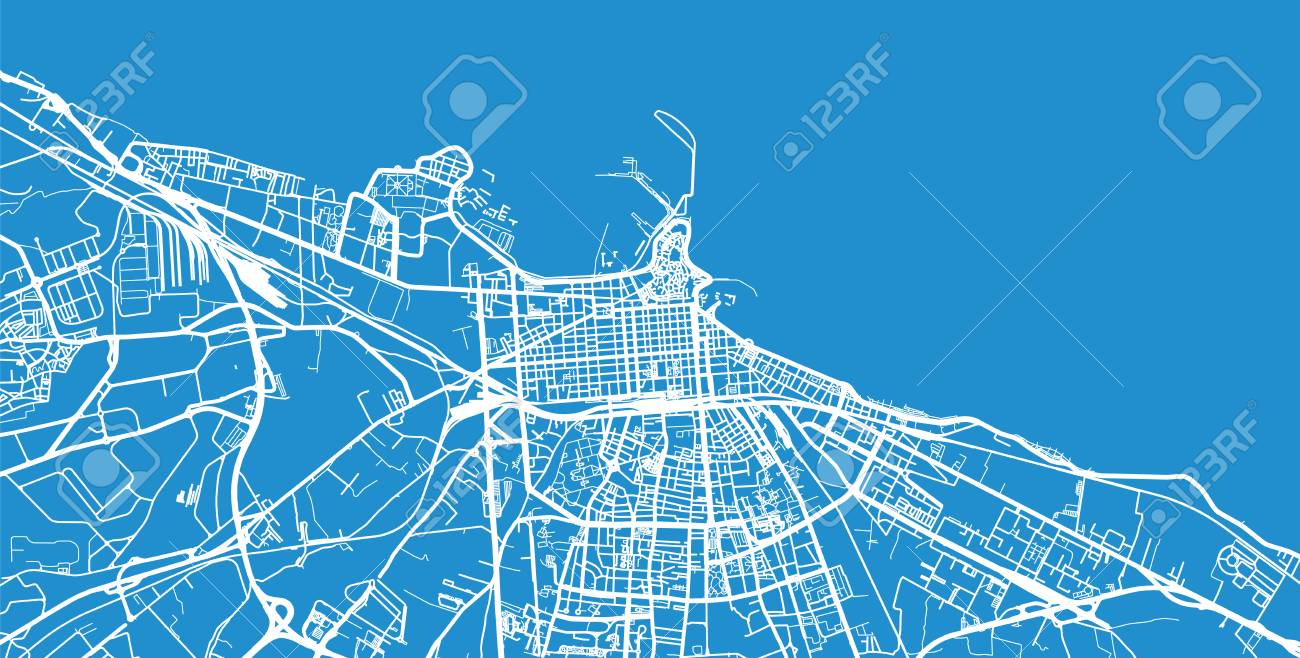 Urban Vector City Map Of Bari Italy Stock Photo Picture And