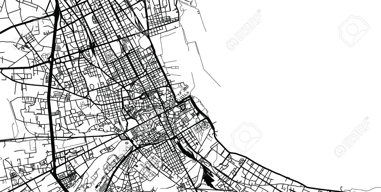 Urban Vector City Map Of Palermo Italy Stock Photo Picture And