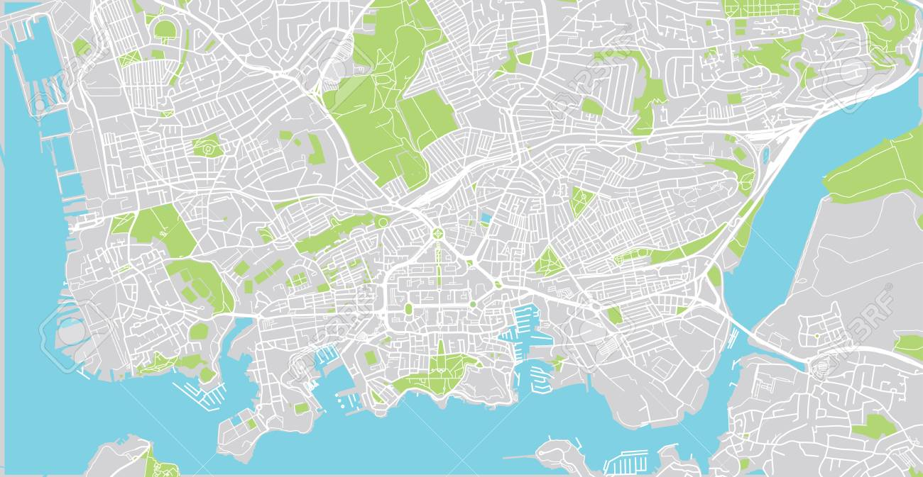Urban Vector City Map Of Plymouth England Stock Photo Picture And
