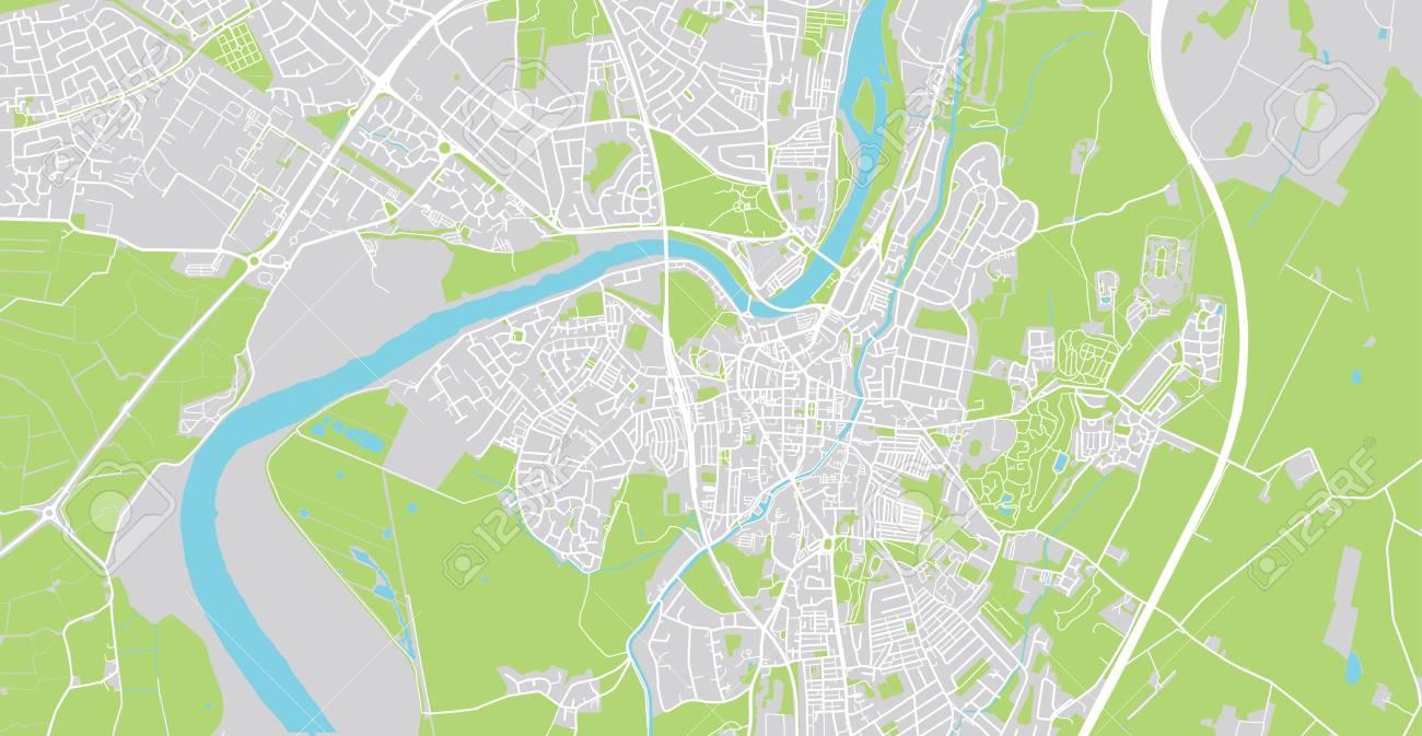 Map Of England Lancaster.Urban Vector City Map Of Lancaster England