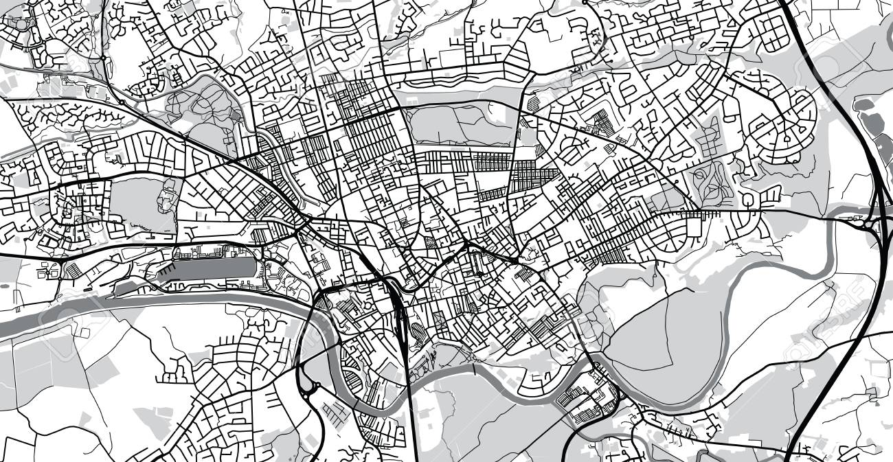 Preston England Map.Urban Vector City Map Of Preston England Stock Photo Picture And