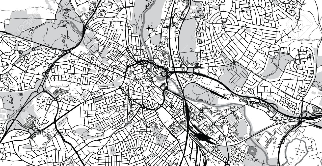 Urban Vector City Map Of Derby England Stock Photo Picture And