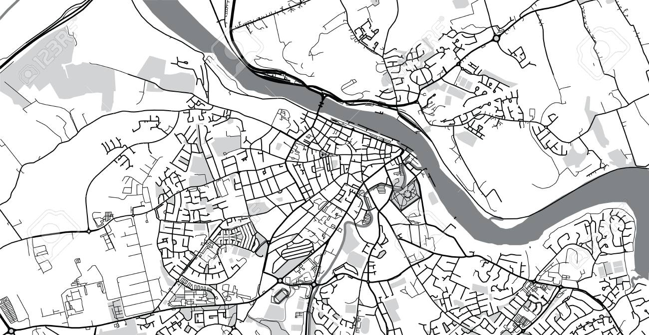 Urban Vector City Map Of Waterford Ireland Stock Photo Picture And