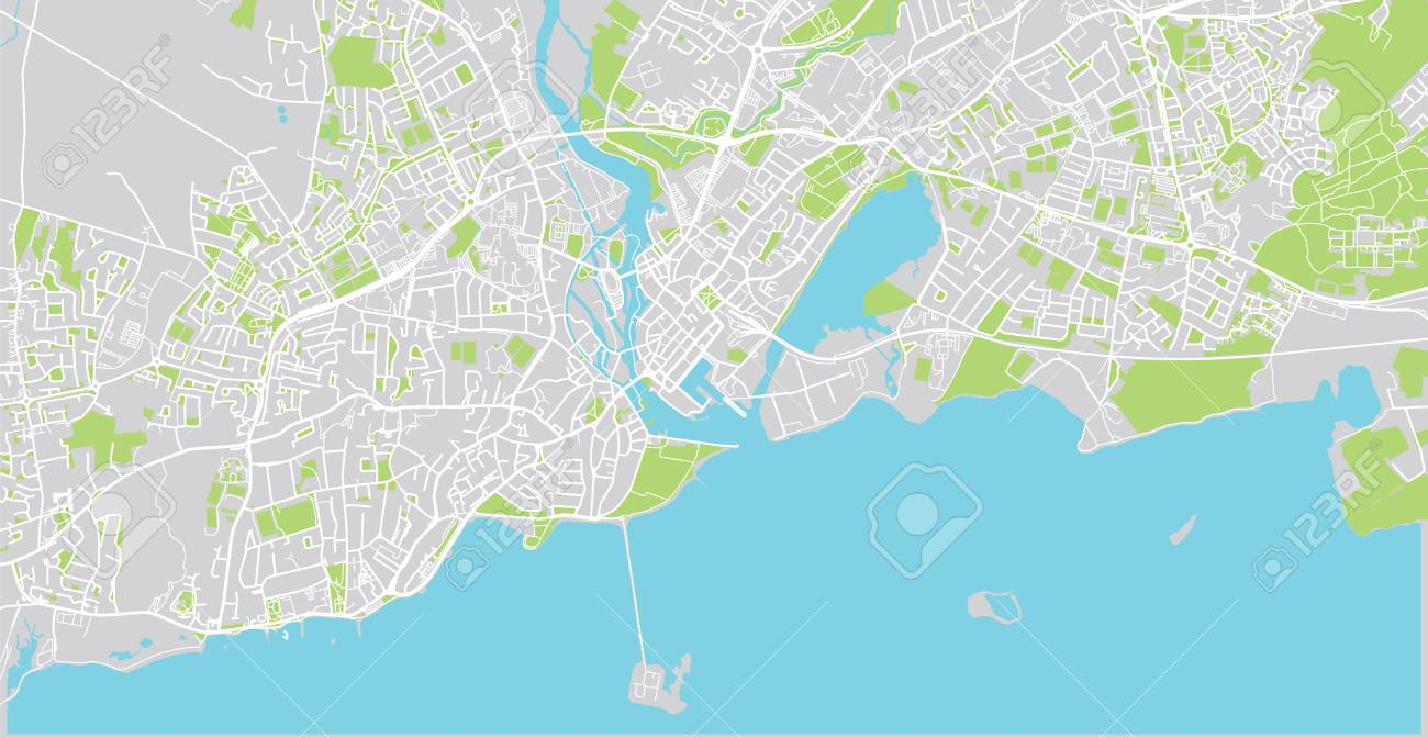 Galway On Map Of Ireland.Urban Vector City Map Of Galway Ireland