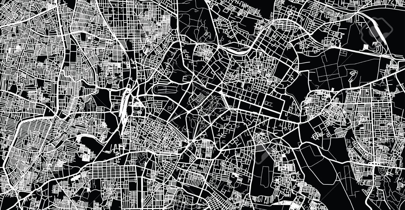 Urban vector city map of Bangalore, India - 126867143