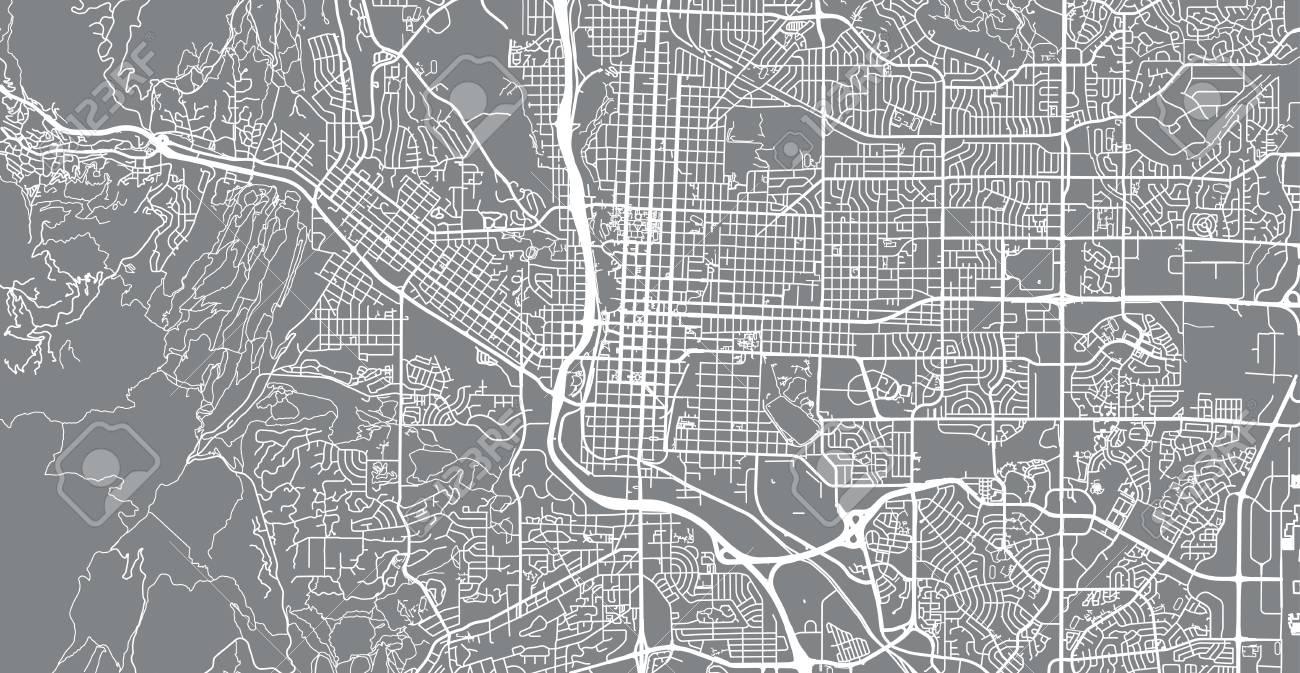 Urban vector city map of Colorado Springs, Colorado, United States..