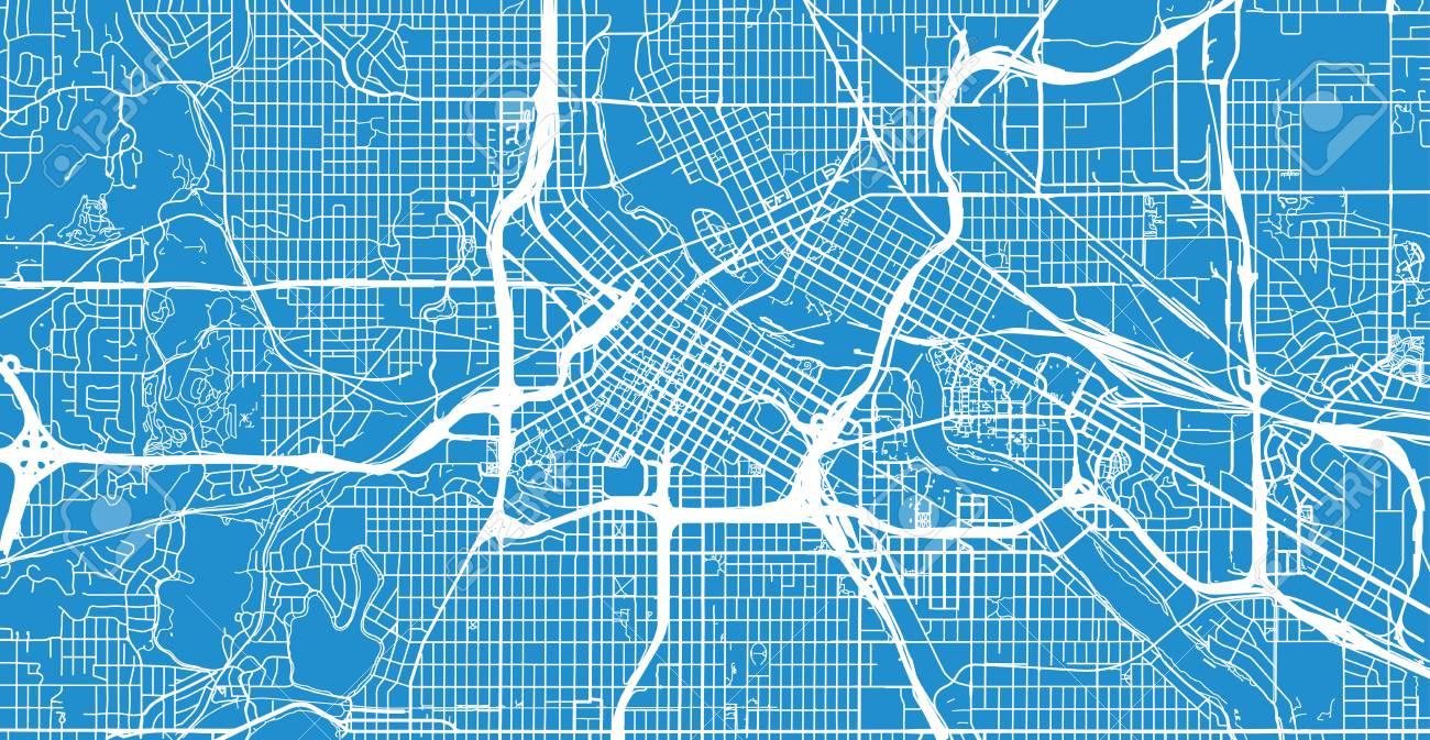 Urban vector city map of Minneapolis, Minnesota, United States..