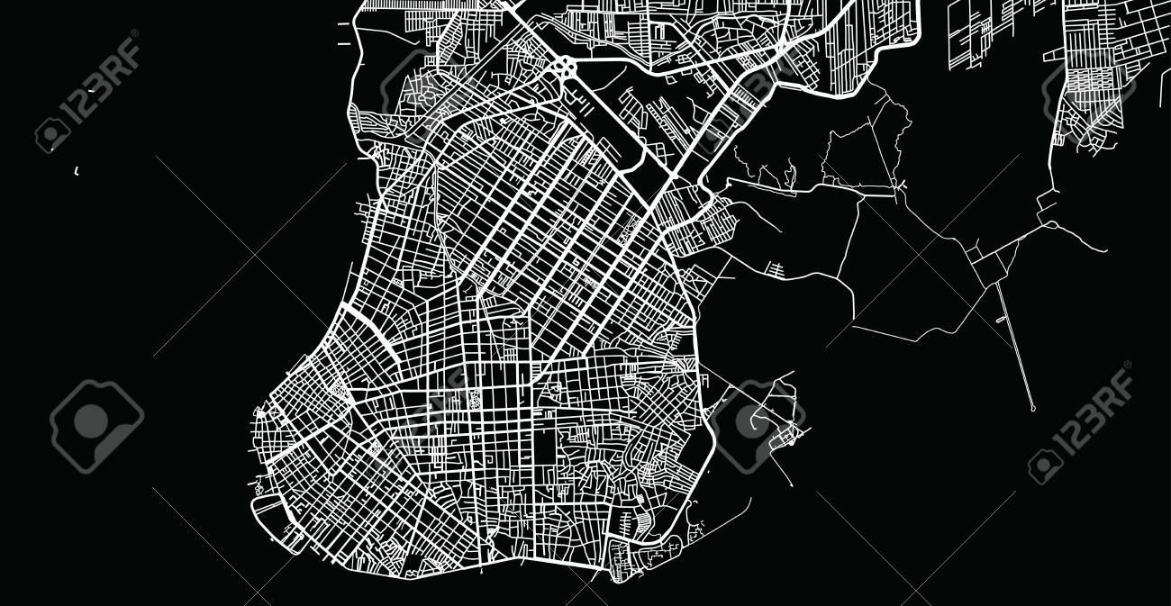 Urban vector city map of Belem, Brazil - 124089362