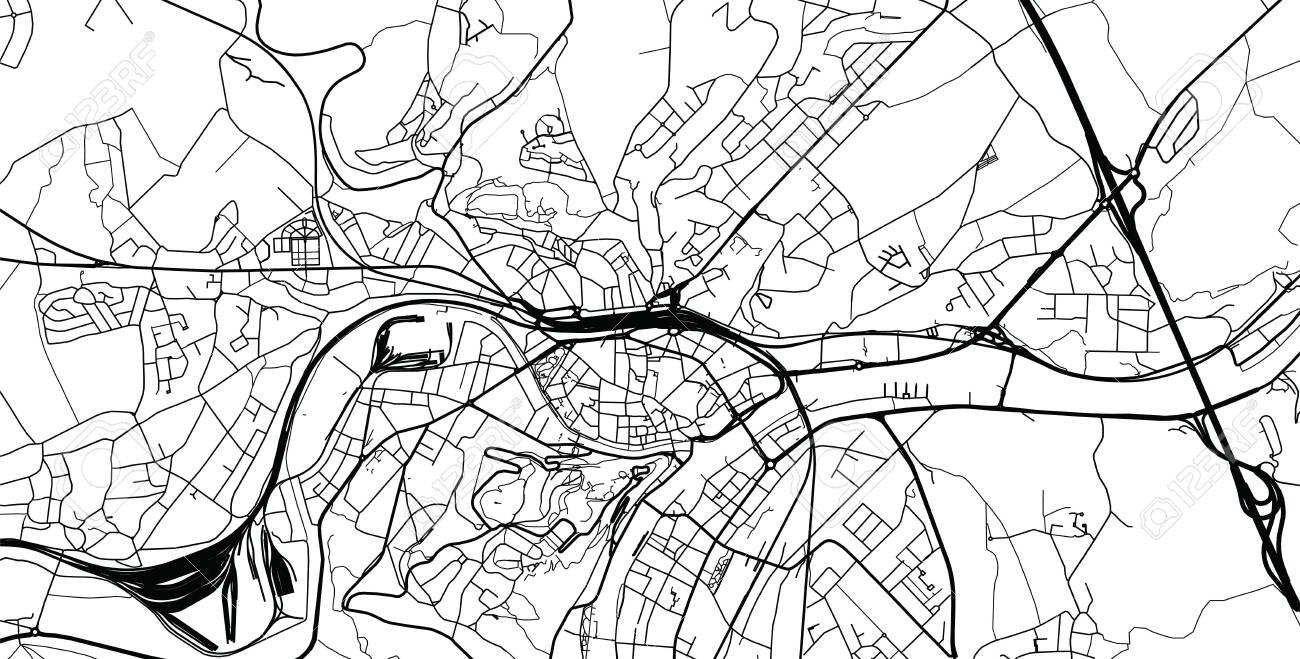 Urban vector city map of Namur, Belgium - 123403352