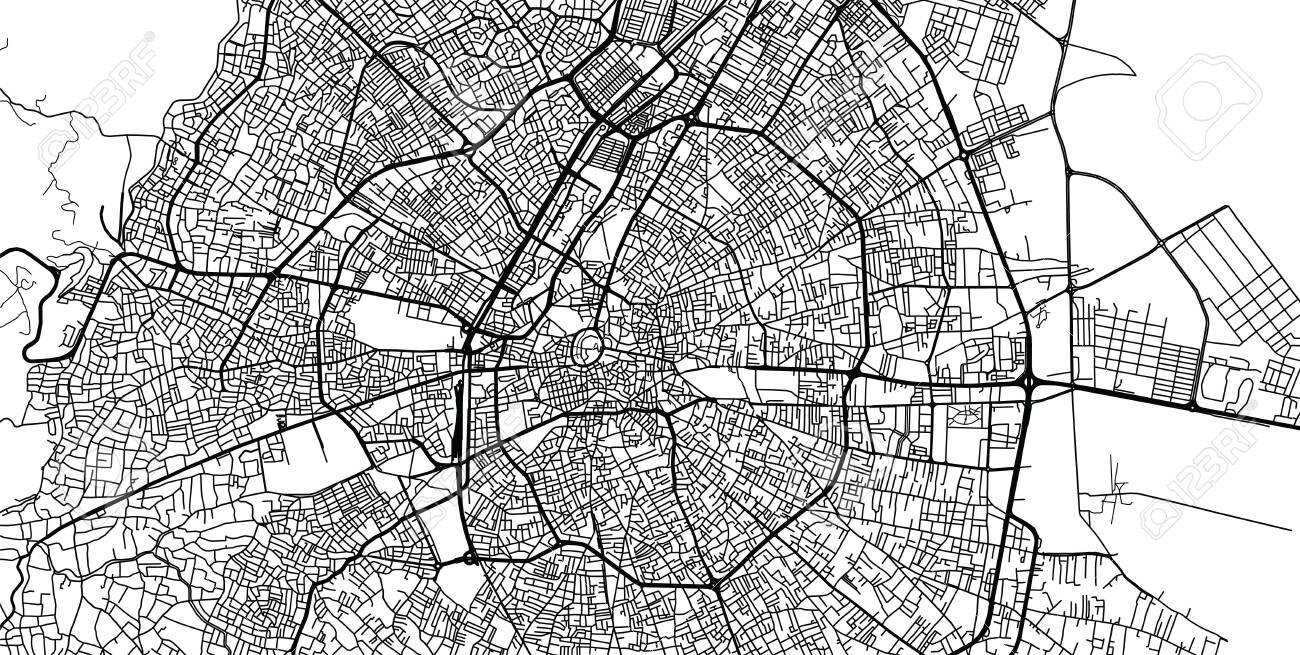 Urban vector city map of Konya, Turkey - 123403479