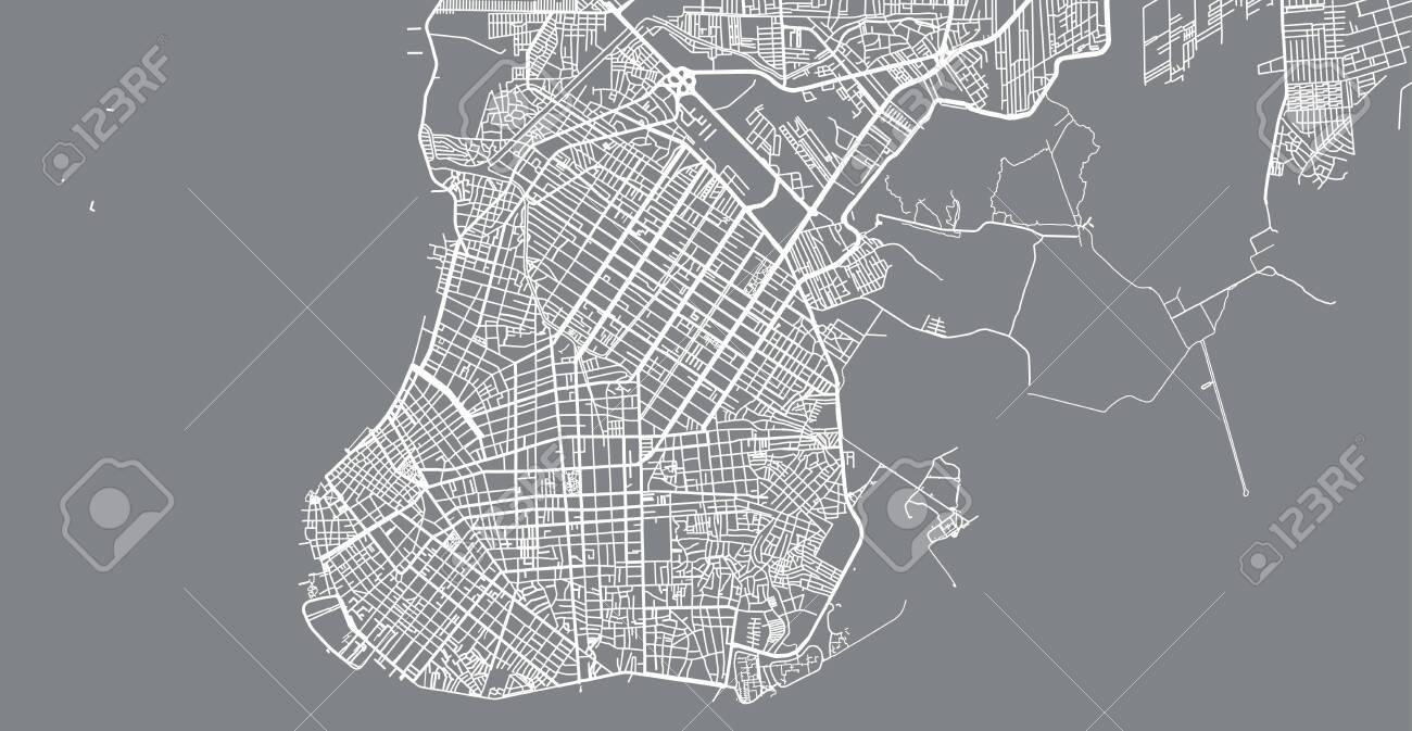 Urban vector city map of Belem, Brazil - 123403537
