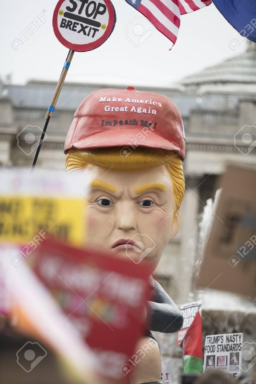 London Uk June 4th 2019 A Political Satire Sculpture Of