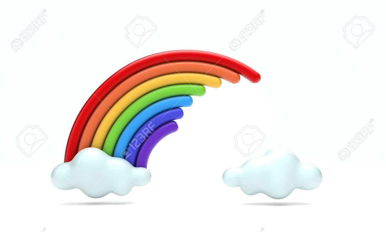 colourful rainbow spectrum 3d rendering - 144829573
