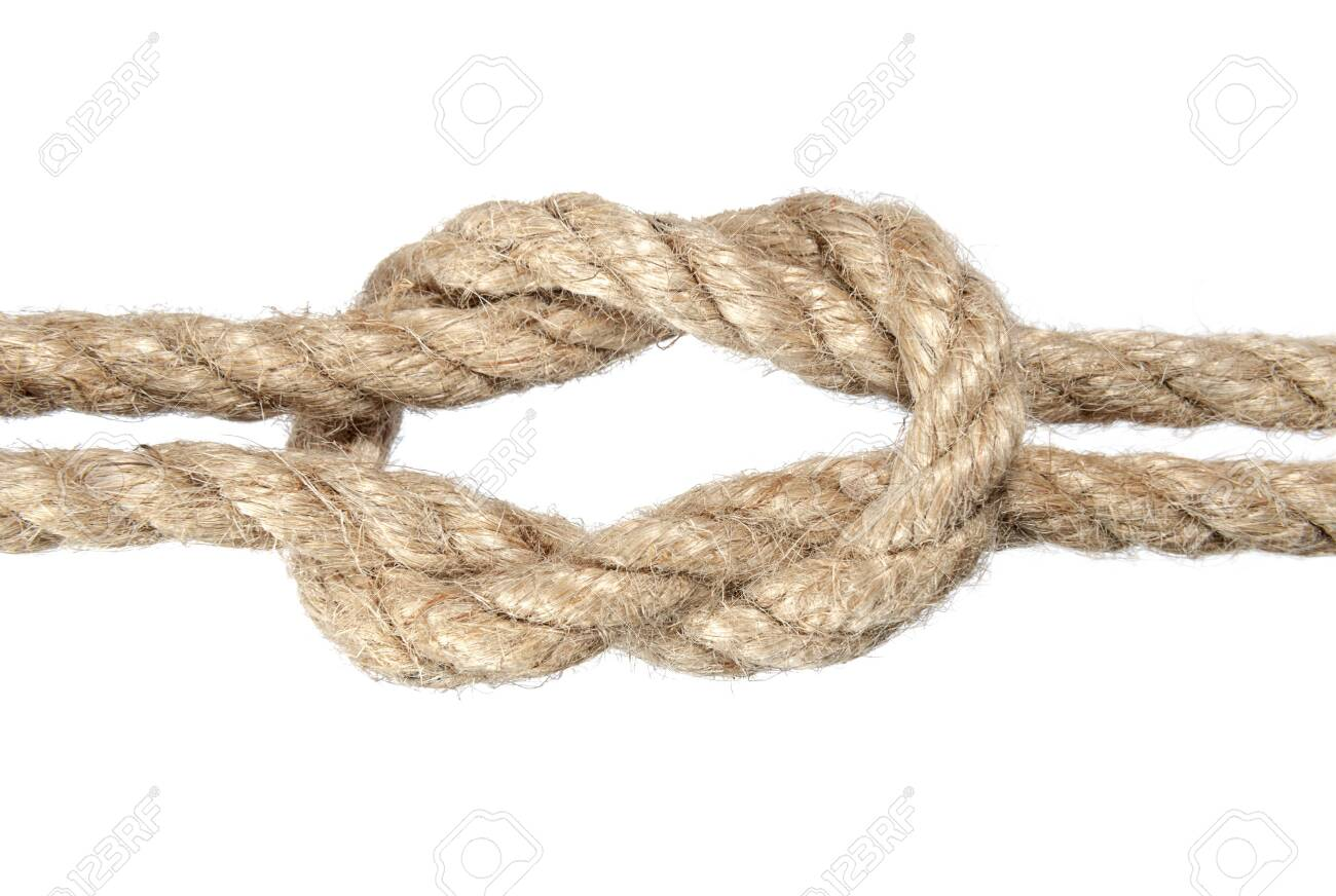 Hemp Rope Knot On White Art And Abstract Objects Stock Photo Picture And Royalty Free Image Image 140225289