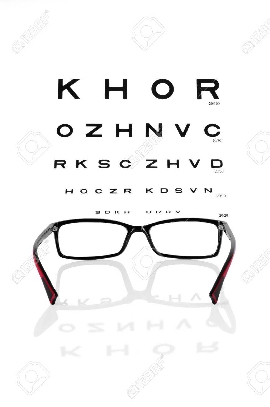 Reading Eyeglasses And Eye Chart Stock Photo Picture And Royalty