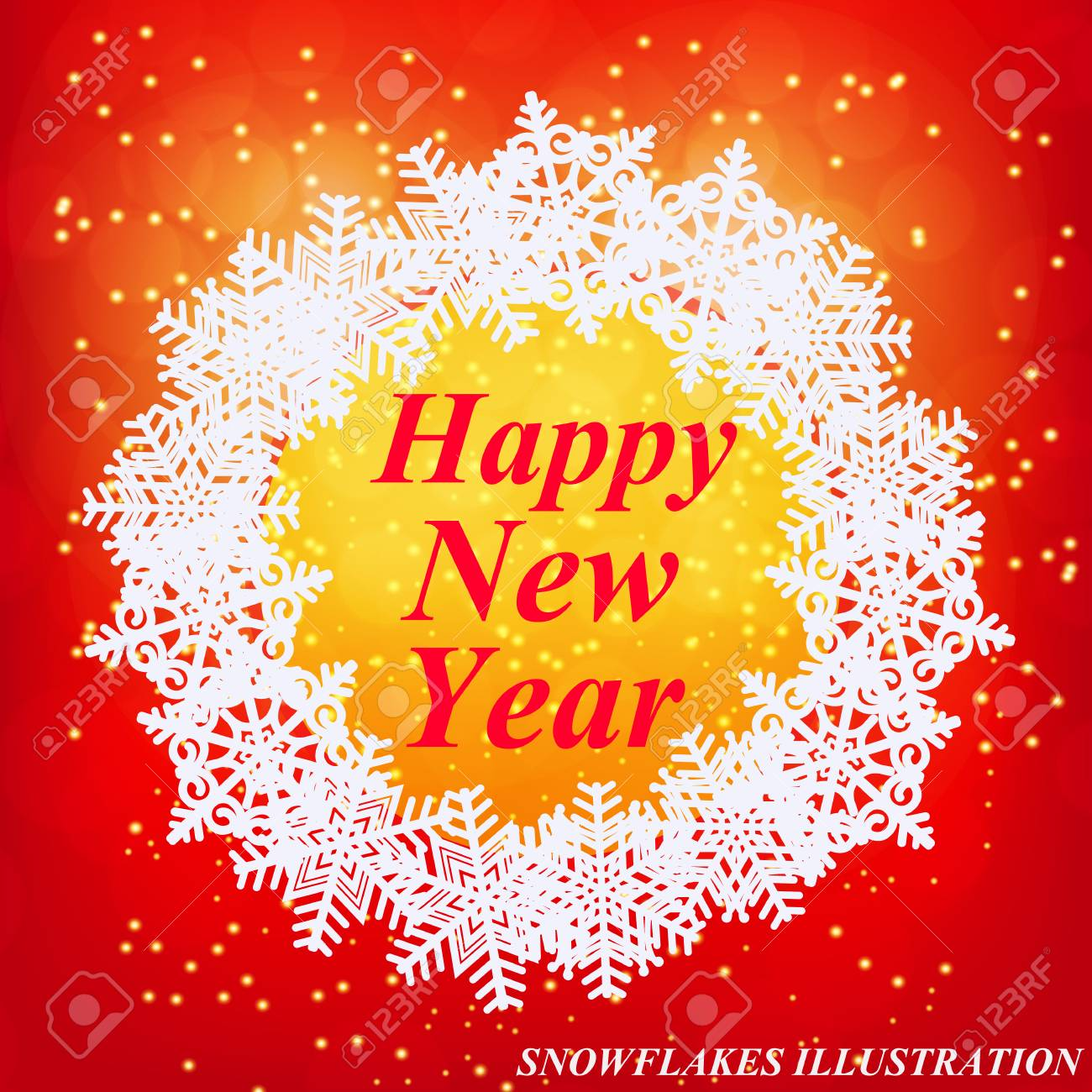 happy new year greeting card new year template brightly colorful illustration red illustration