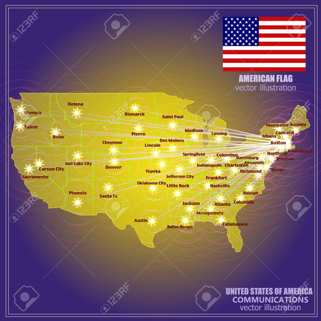 Map of USA. Colorful illustration with map. America map in gold.. Gold In Usa Map on gold in vermont, gold in california, gold in puerto rico, gold in united states, gold in turkey, gold in pennsylvania, gold in north dakota, in the civil war states map, gold in indiana, copper mining in the united states, us mining map, gold mines in usa, virginia gold mining, gold mining in alaska, gold in arkansas, gold country, gold deposits in usa, landslide united state map, latin america map,