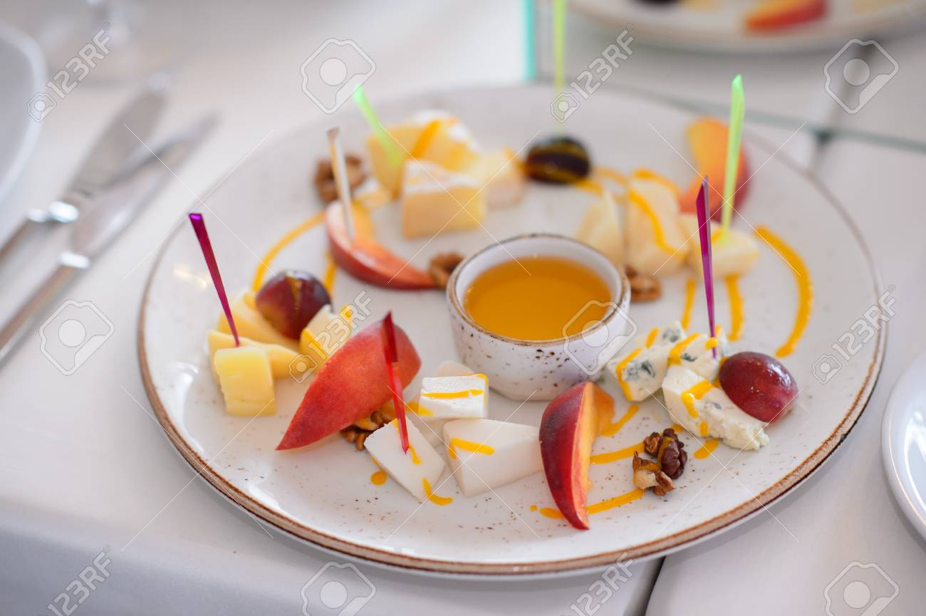 Catering Services And Table Decoration Dish With Food Meal