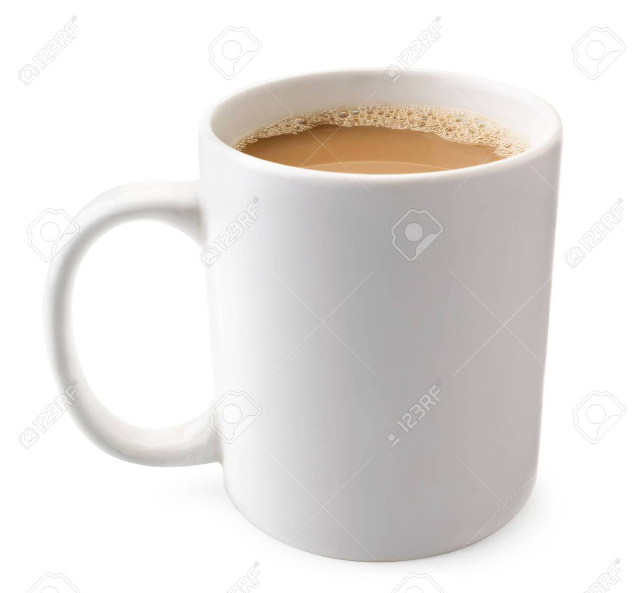 Cup of coffee on a white background. Isolated - 131762134