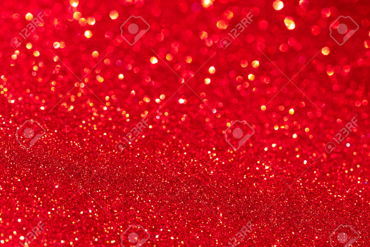 Red glitter texture Christmas abstract background. Defocused. - 158120689