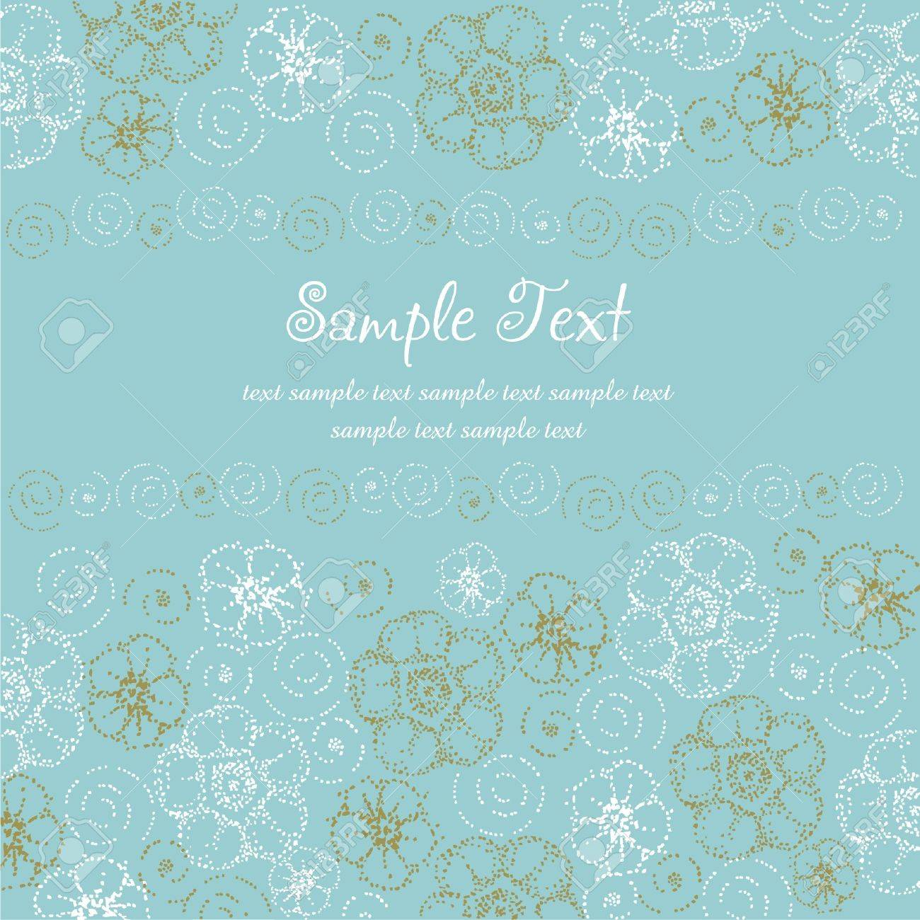 Template text background  Light gentle template for design greeting card with place for your text with colorful stylized fantasy dot flowers and spirals Stock Vector - 15497844