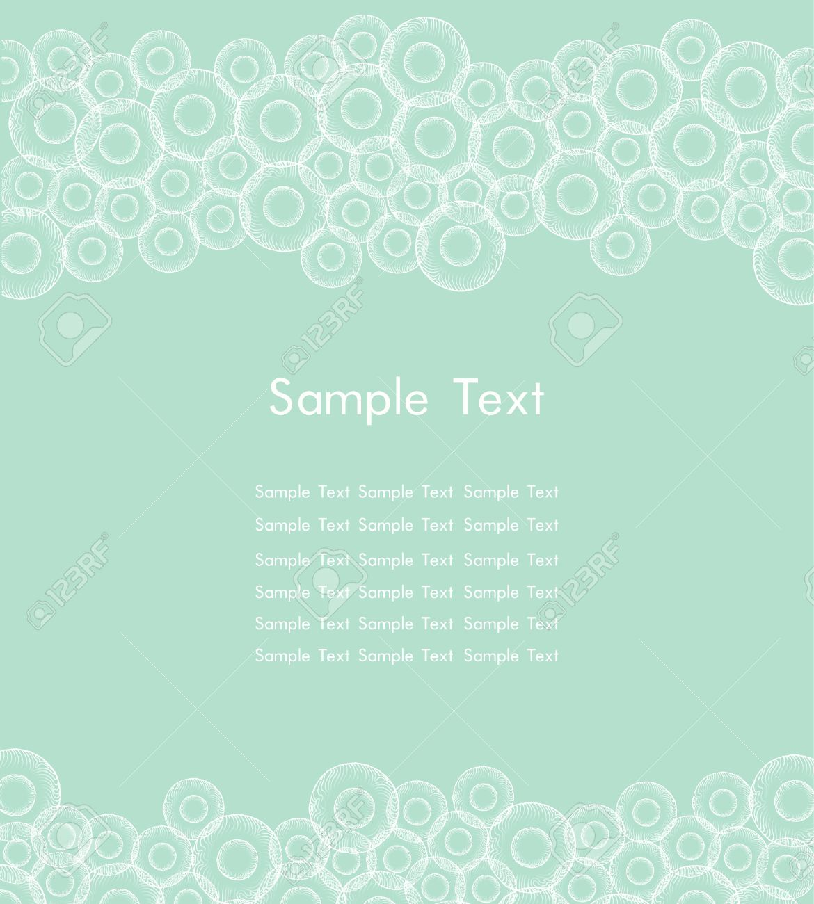 Template for design web page backgrounds, cards, flayers  Text background with colorful circle pattern Stock Vector - 16519030