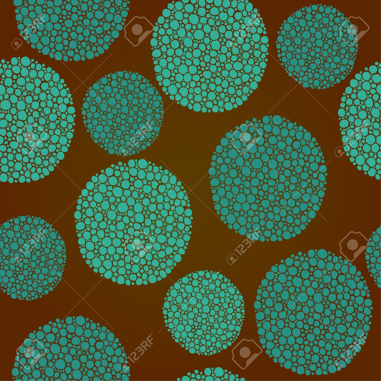 Seamless decorative circle pattern  Texture with ornamental turquoise rounds Stock Vector - 16478965