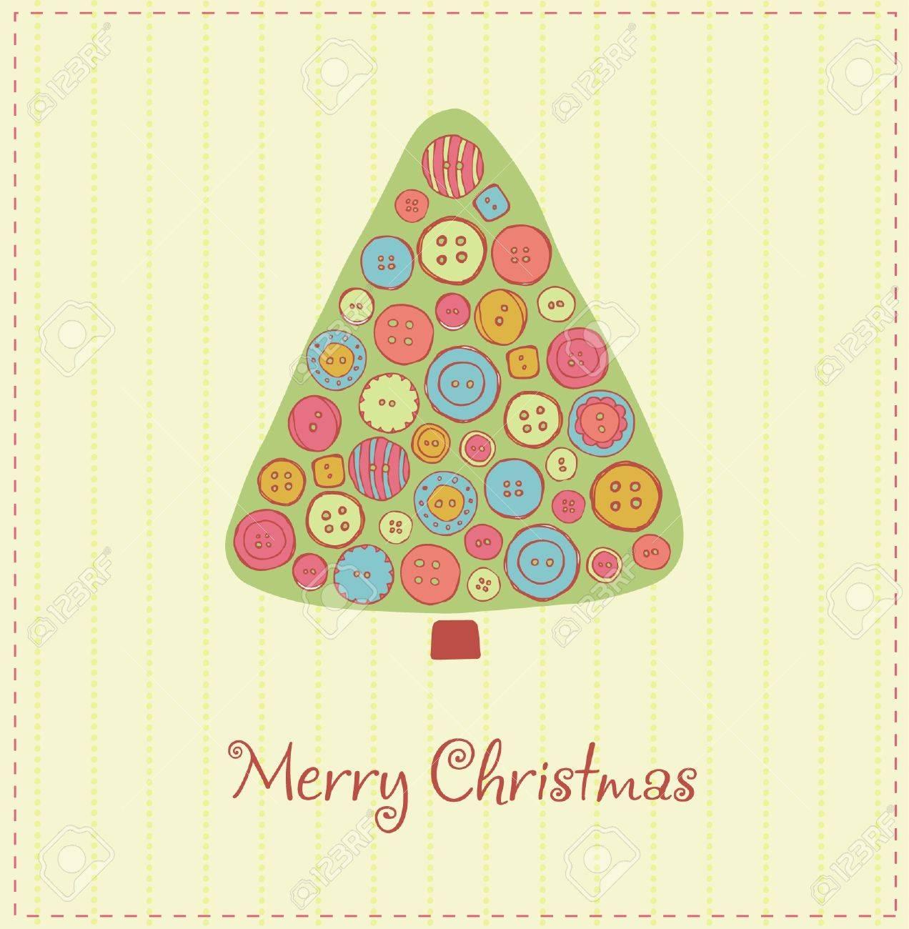Illustriert Vorlage Für Design Weihnachtskarte Mit Festlichen