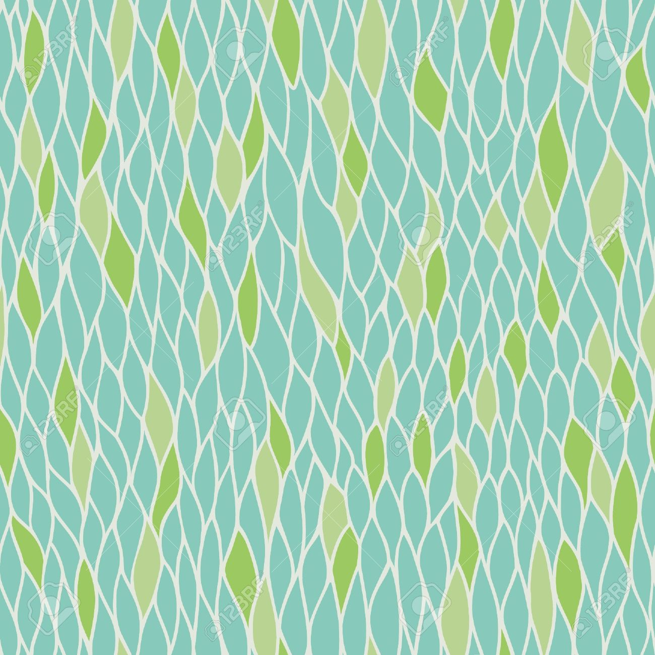 Abstract stylized seamless natural pattern with leaves  Endless linear texture  Template for design textile, backgroungs, wrapping paper Stock Vector - 17272509