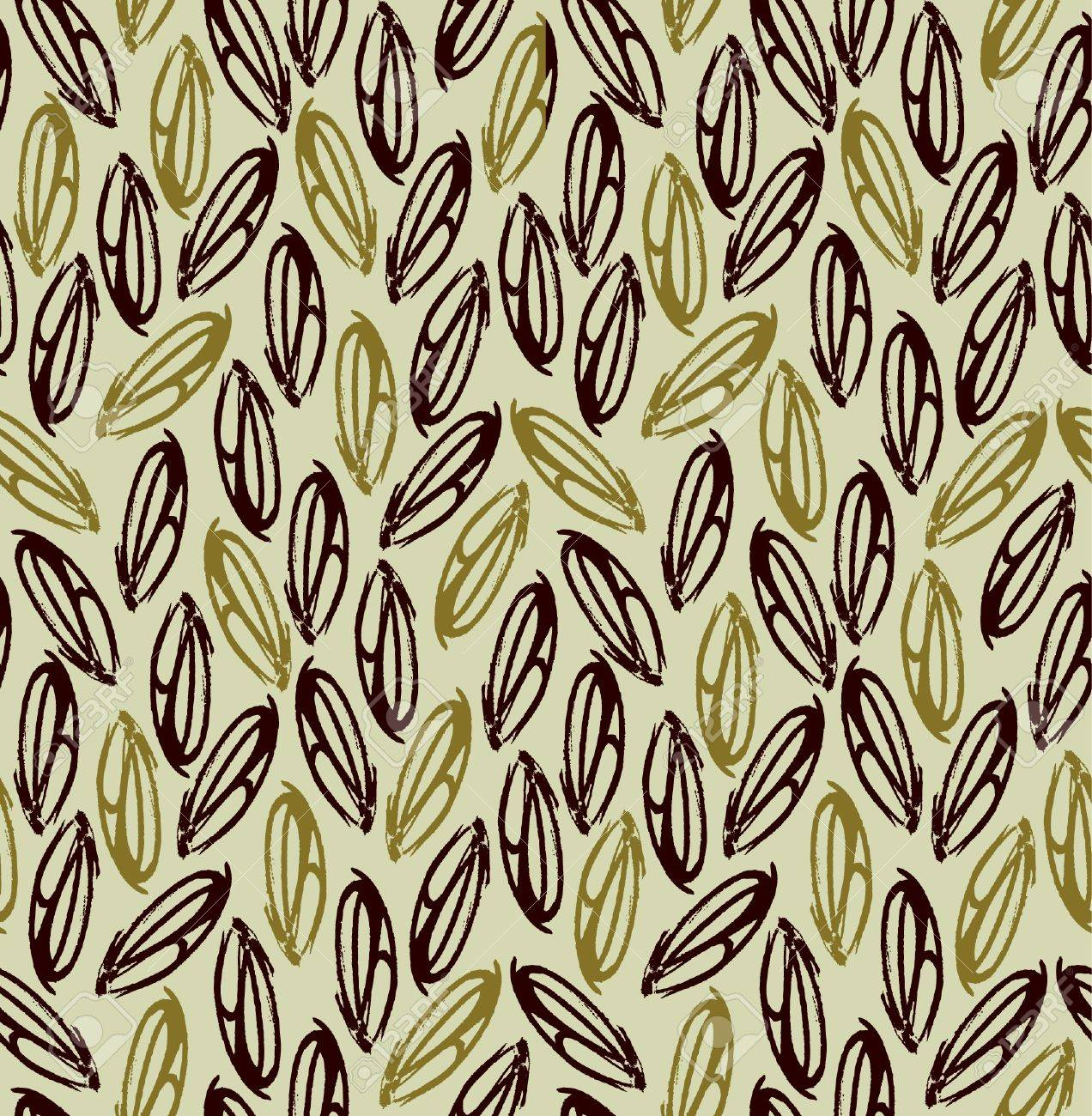 Decorative seamless golden pattern  Endless abstract beige texture with leaves  Template for design backgrounds, textile, package, wrapping paper Stock Vector - 18035880