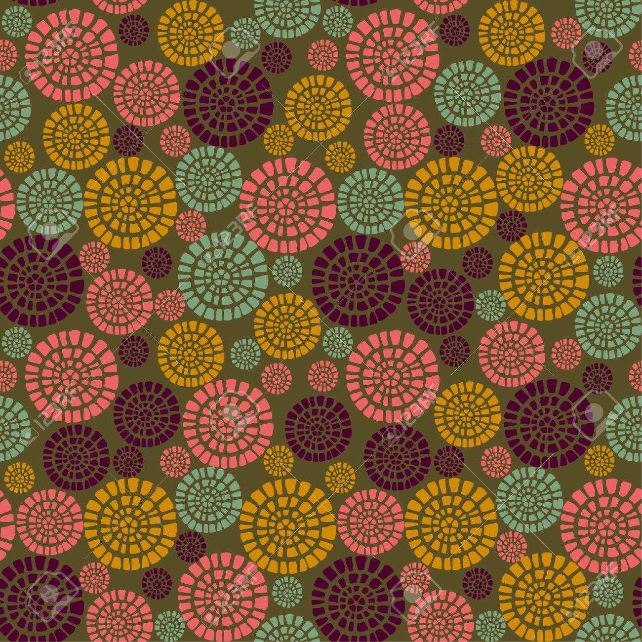 Decorative stylized seamless pattern with flowers  Endless bright geometrical texture  Template for design fabric, backgrounds, packages, wrappers Stock Vector - 18790699