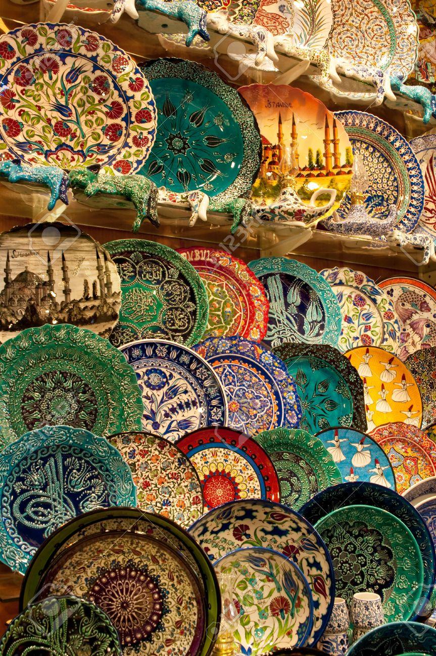 Plates For Sale >> Handmade Turkish Plates For Sale Kapalicarci Istanbul Turkey