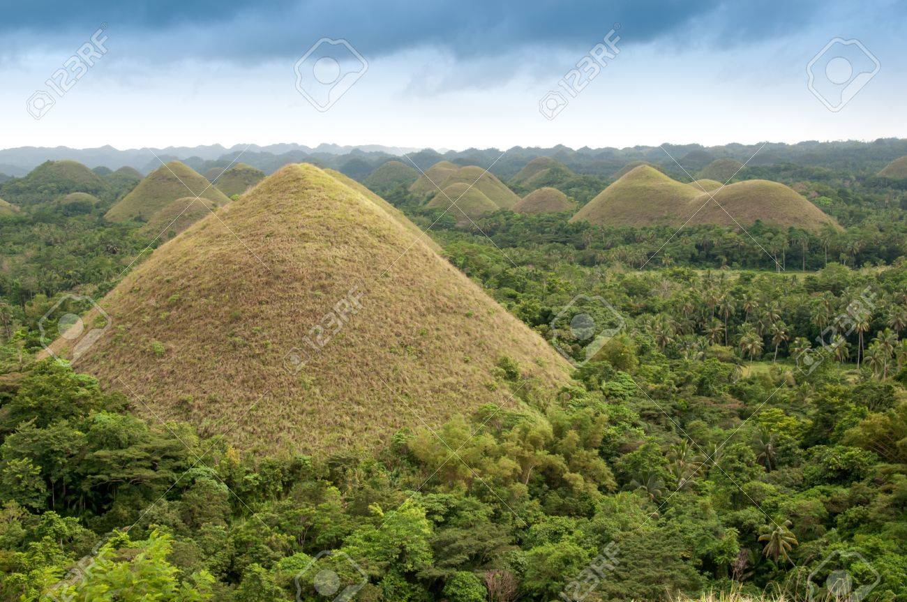 The Chocolate Hills - Philippines Stock Photo, Picture And Royalty ...