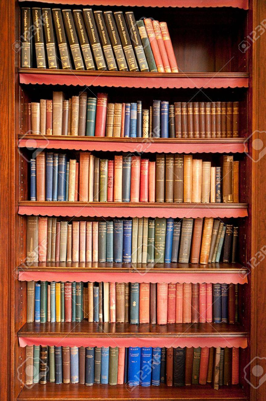 Old Books On A Shelf Stock Photo Picture And Royalty Free Image - Old book case