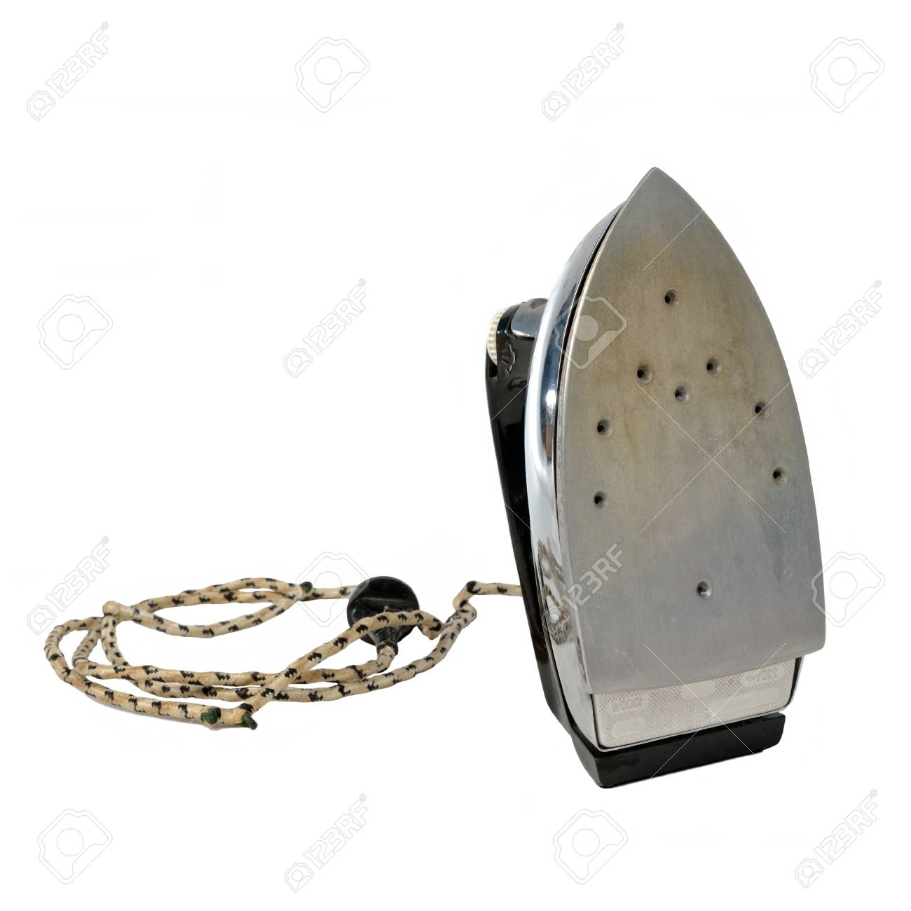 Vintage iron against white background Stock Photo - 13904041