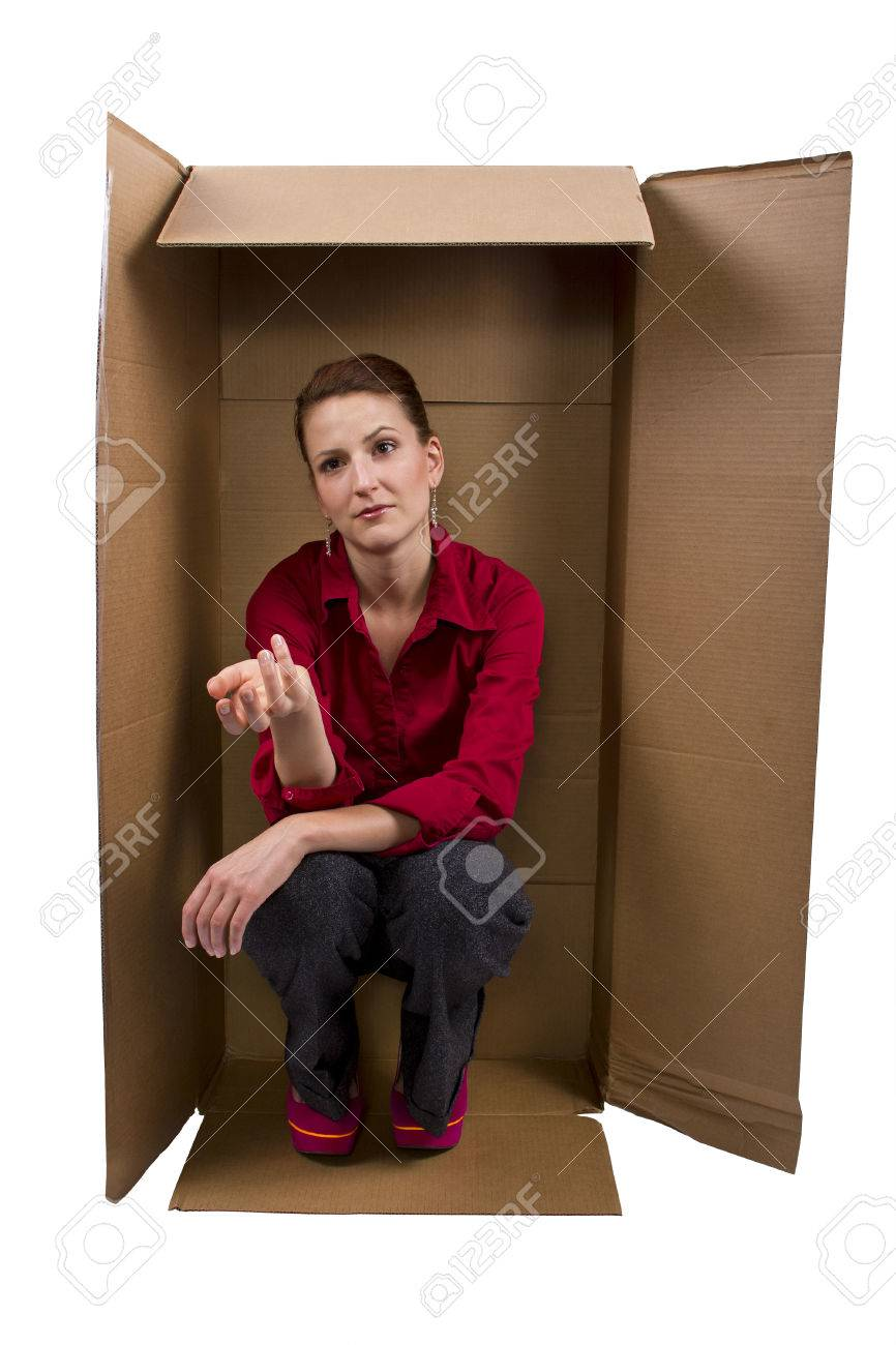 Professional Woman Living In A Box Stock Photo, Picture And Royalty ...