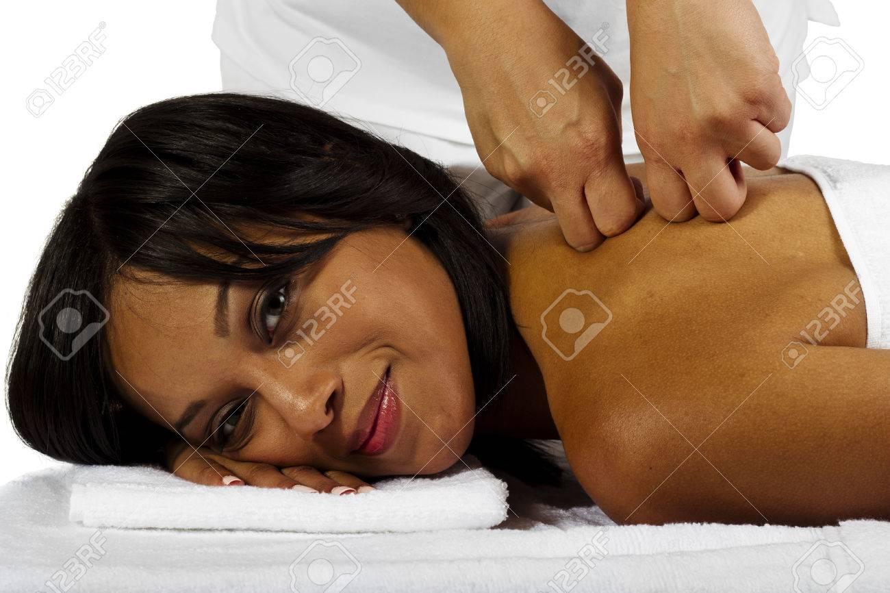 Black girl massage