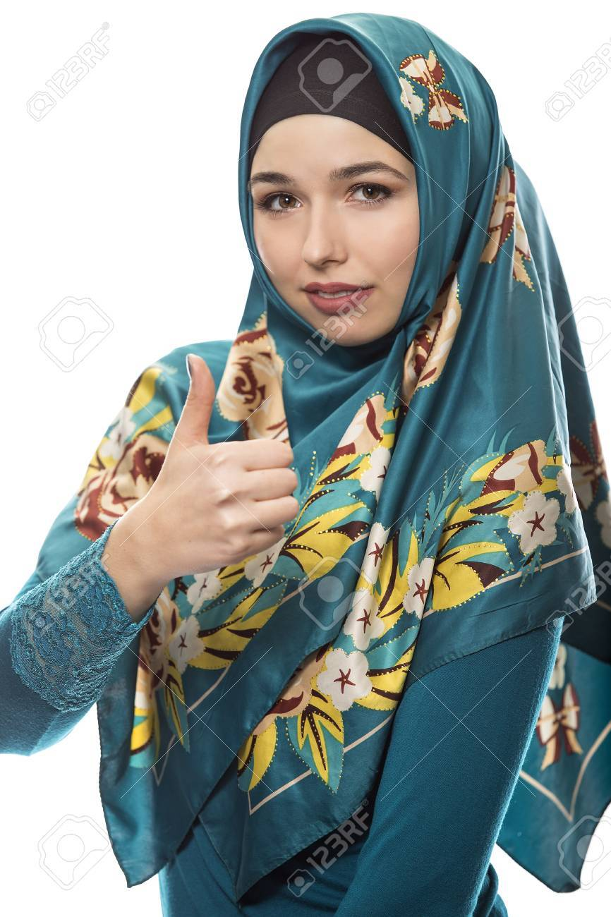 Female wearing a hijab, conservative fashion for muslims, middle east and  eastern european culture